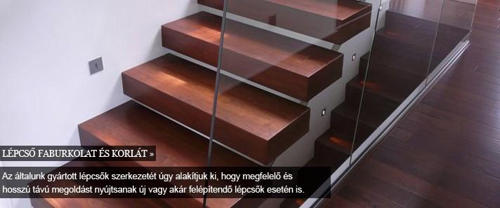 bútor, beltér -fa lépcső