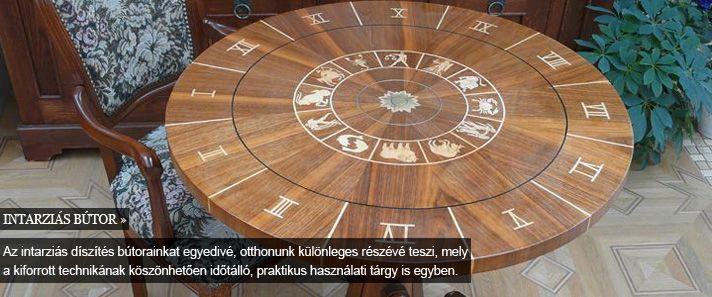 intarzia -intarziás bútor, asztal