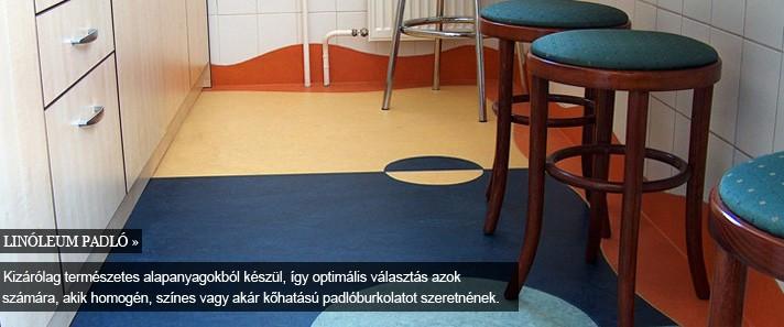 padló -linóleum, mintás konyha